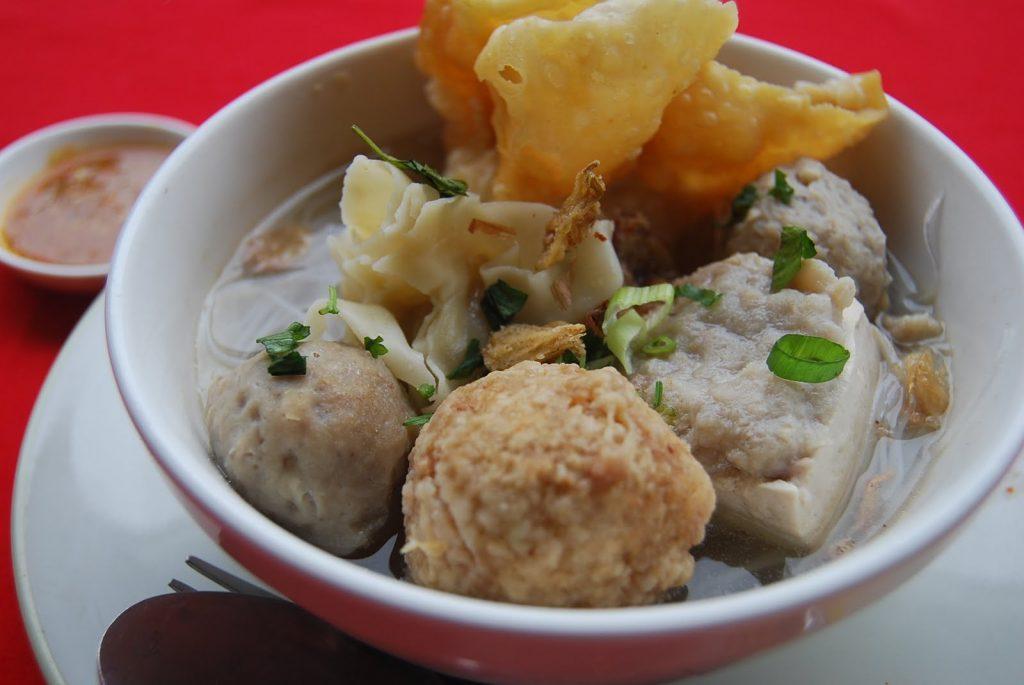 Món bakso ở Bali.