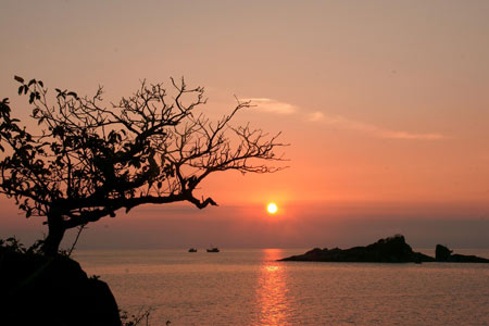 Bãi Nhát cũng là nơi ngắm hoàng hôn đẹp nhất Côn Đảo