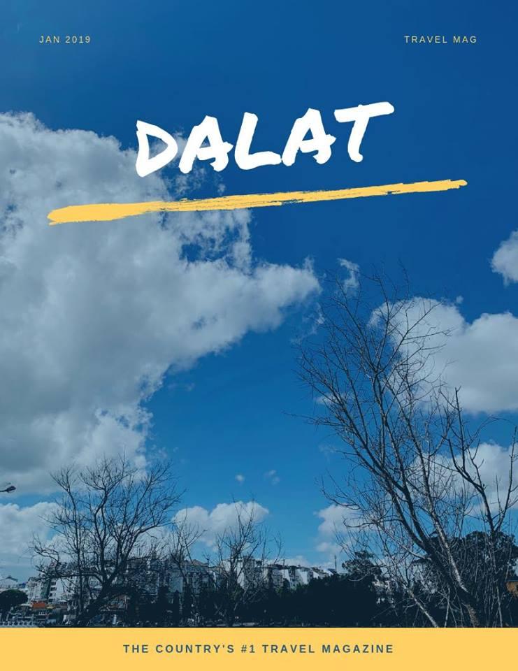 Thời tiết Đà Lạt dễ chịu vô cùng, ban ngày nắng ấm, tối se se lạnh, giơ máy lên là chụp được những bức ảnh trời xanh mây trắng
