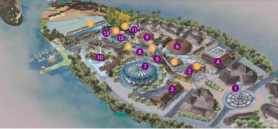 Bản đồ toàn công viên văn hóa chủ đề Hội An nơi chương trình Ký Ức Hội An được dàn dựng công phu.
