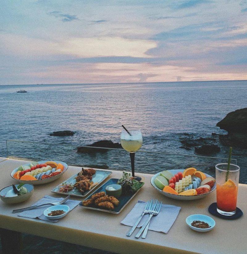 Rock Sunset Island